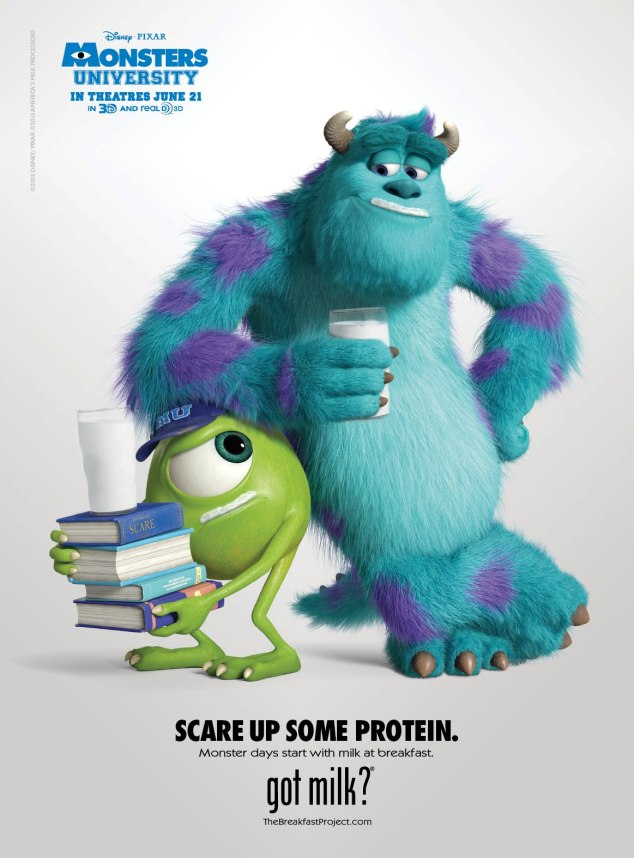 Milk Mustache Celebrities: Monsters University