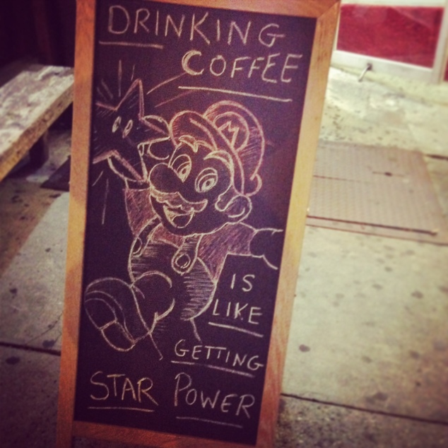 super mario coffee star power